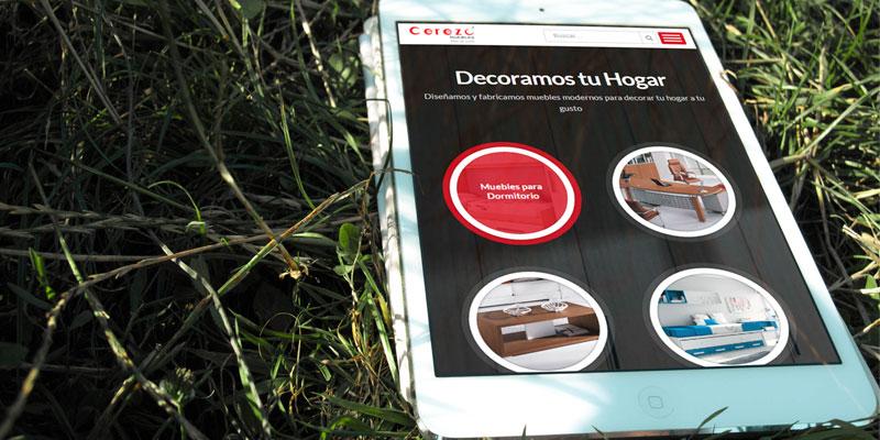 """Diseño web Muebles """"El Cerezo"""""""